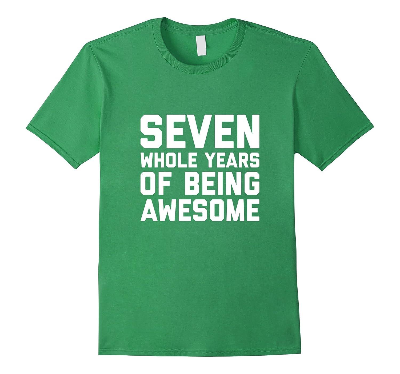 7th Birthday Shirt Gift Age 7 Year Old Boy Girl Tshirt Tee RT