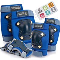 OutdoorMaster Kids/Youth Protective Gear - Knee Pads Elbow Pads Wrist Guard 6-in-1 Set for Bike, Cycling, Roller Skating…