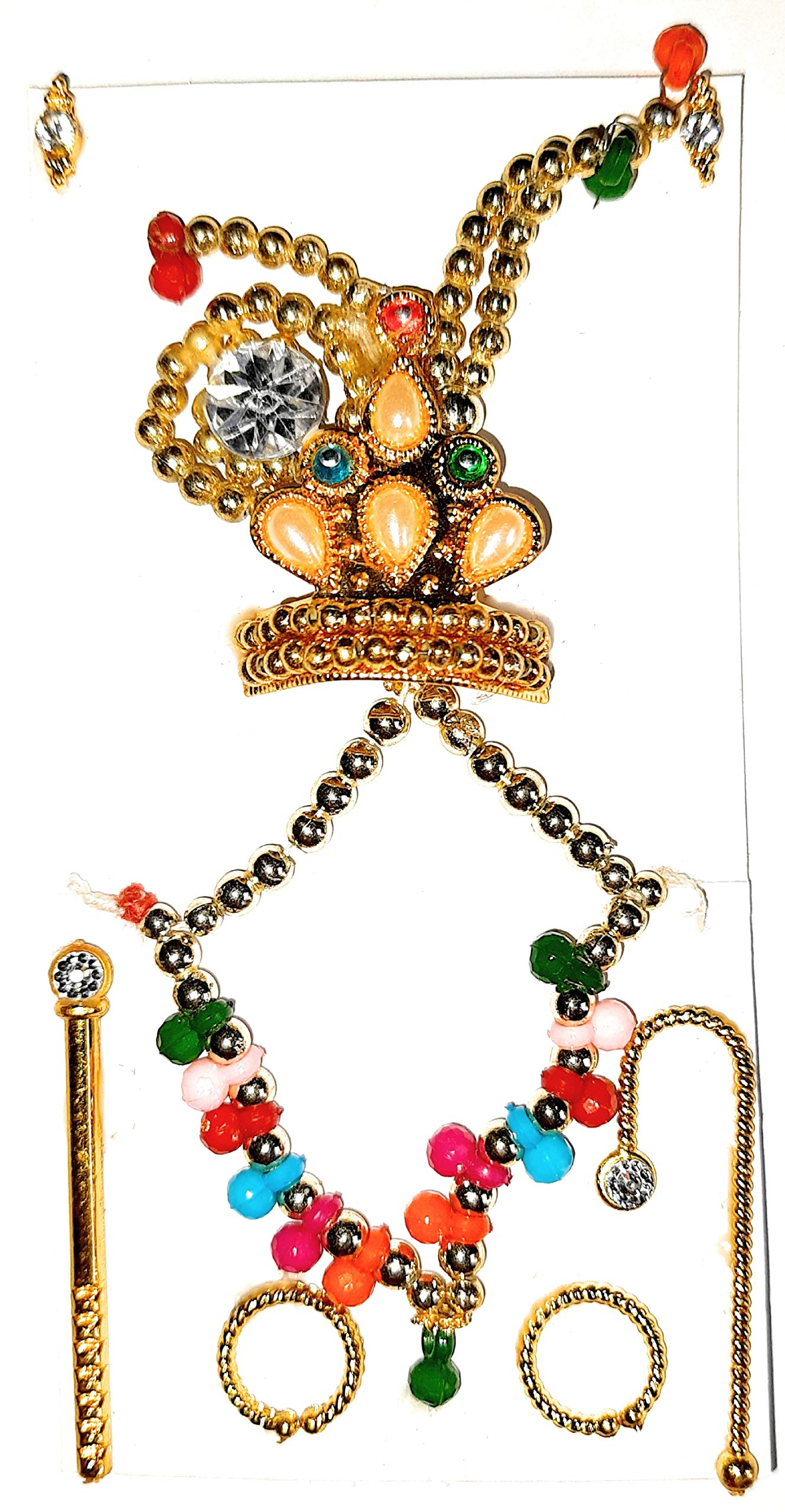 hema Pearl Multicolour Jewellery and Accessories for Ladoo Gopal Ji
