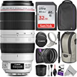 Canon EF 100-400mm f/4.5-5.6L IS II USM Lens w/ Advanced Photo and Travel Bundle - Includes: Altura Photo Backpack, UV-CPL-ND4, Monopod and SD Card