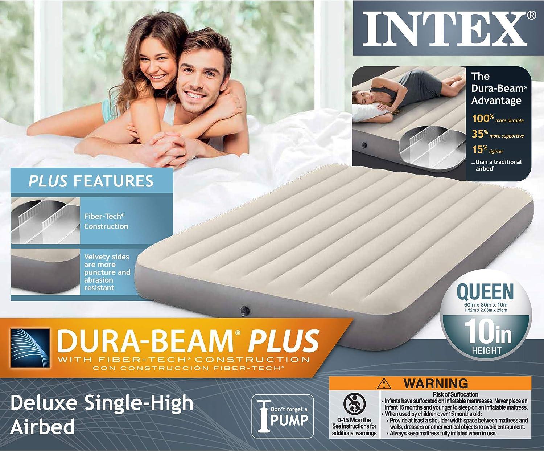 Amazon.com: Intex Dura-Beam Standard Series Deluxe - Colchón ...