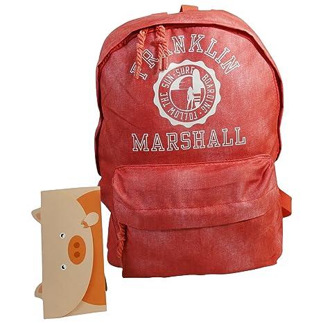 Franklin Marshall Mochila Bolso Por Mujer Escolar Tiempo Libre Rosa
