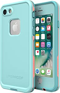 Lifeproof FRE SERIES Waterproof Case for iPhone SE (2nd gen - 2020) and iPhone 8/7 (NOT PLUS) - Retail Packaging - WIPEOUT (BLUE TINT/FUSION CORAL/MANDALAY BAY)