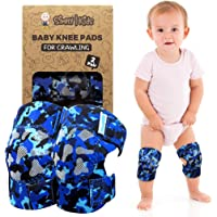 Baby Knee Pads for Crawling (2 Pairs) I Protector for Toddler, Infant, Girl, Boy ((2nd Gen) Ocean Camo)