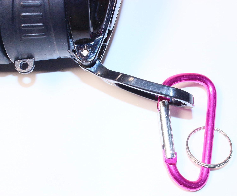6er D-Ring Karabiner Set mit Schl/üsselring 3 Farben und 3 Gr/ö/ßen 2je Farbe Aluminium Karabiner Schl/üsselanh/änger Karabinerhaken Rostfreier Aluminium Haken CarabinerEINWEG verpackt