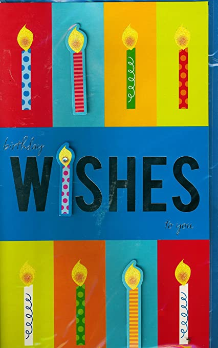 Papel manualidades grande Tarjeta de cumpleaños, 17,8 cm x ...