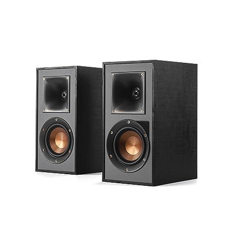 Klipsch R 41PM Powered Flexible Bookshelf Home Speaker Set Of 2 Black