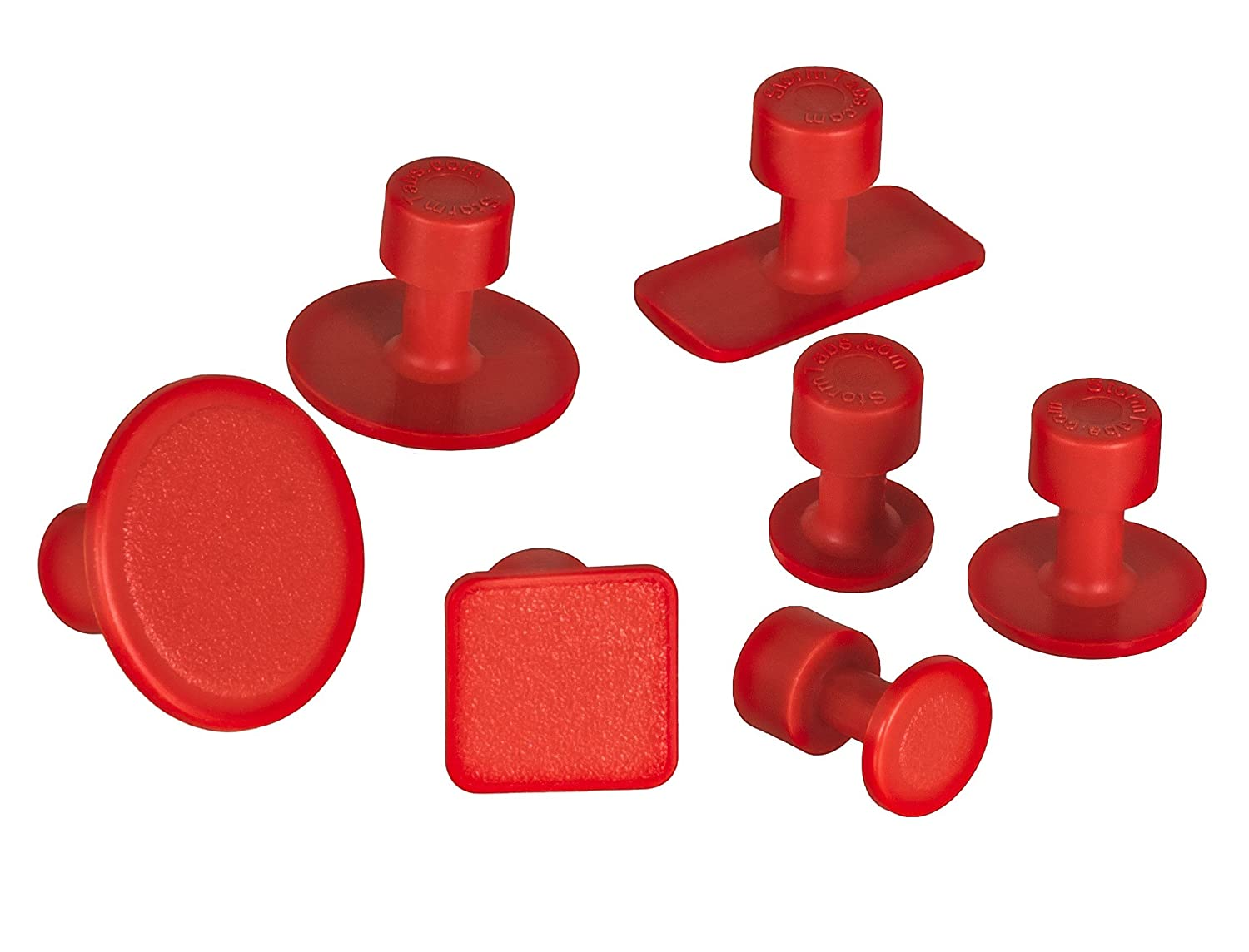 Red TUBOFLEX PDR Suction Cups levabolli-rimozione ammaccature-pdr Paintless dent-storm tabs-confezione 7/ PEZZI