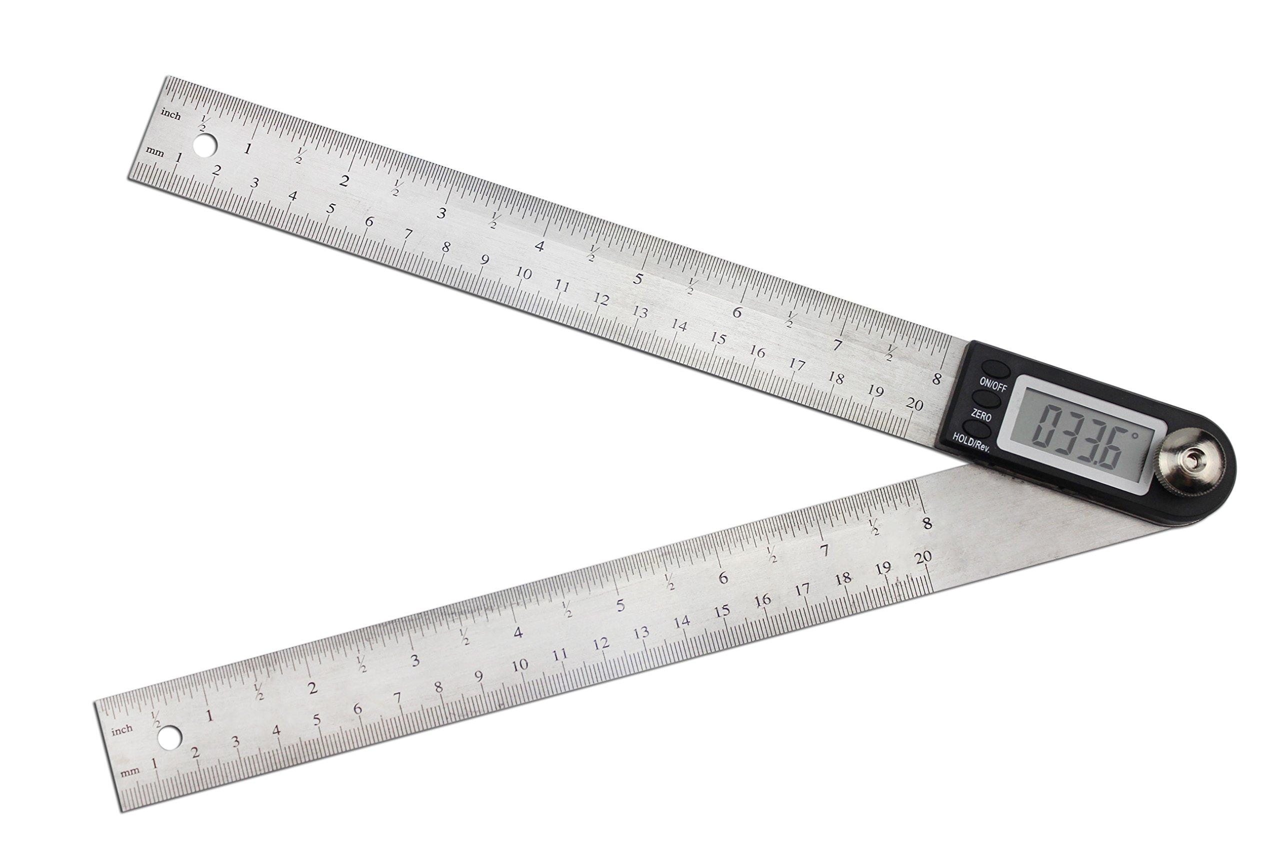 Angle Finder Electronic Protractor, STARRICH Digital Goniometer Miter Gauge Ruler (8inch/200mm)