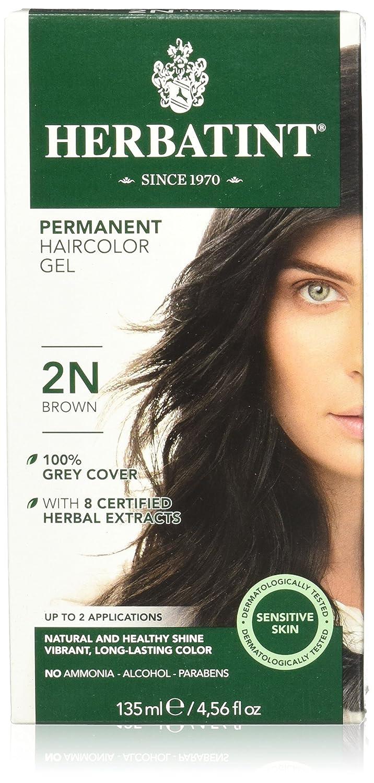 Amazon.com : Herbatint Permanent Herbal Hair Color Gel, 2N Brown ...