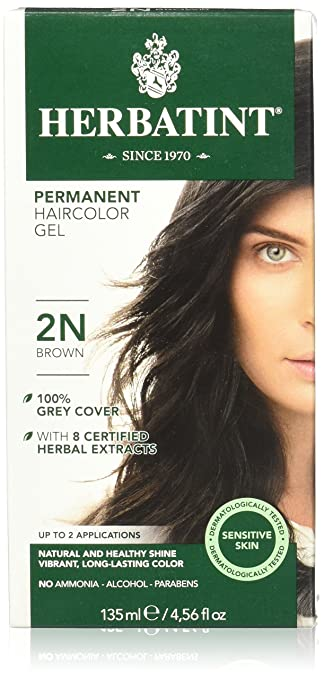 Amazon.com : Herbatint Permanent Herbal Hair Color Gel, 2N Brown ...