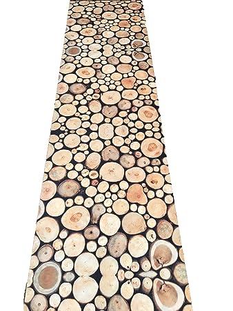 Teppich Läufer Küche Holz alle Größen Made in Italy mit ...