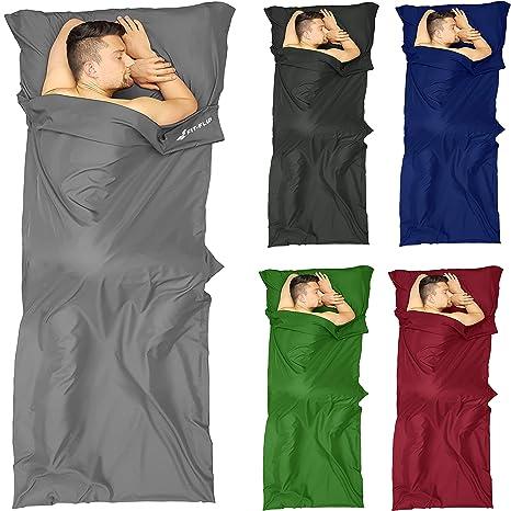 Fit-Flip Saco de Dormir Micorfaser, Saco de Viaje, Saco de Dormir Inlay