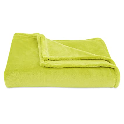 Amazon Berkshire Blanket Decorative VelvetLoft Plush Throw Mesmerizing Citron Throw Blanket
