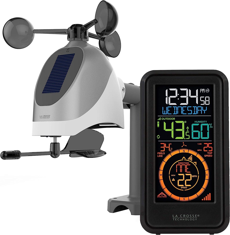 Amazon Com La Crosse Technology S81120 Int Wireless Combo Weather Station With New Breeze Solar Wind Sensor Black Home Kitchen