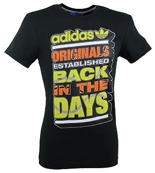 b01143dd816b4 adidas Originals Heritage Graphic Camiseta de Black z36493  Amazon.es   Deportes y aire libre