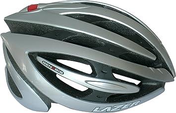 Lazer MLE041010F02S Monaco Evo Window Pure Carbon Casco Moto Modular, Carbon/Blanco Metal/