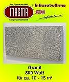 Magma Infrarotheizung 800 Watt (Granit grau-weiß) steckerfertig, OHNE Steckdosenregler