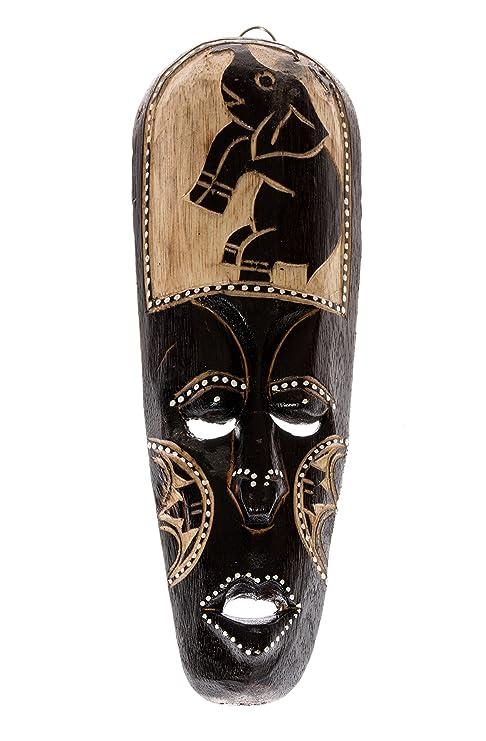 30 cm Madera Máscara Máscara de madera Escultura de adornos ...