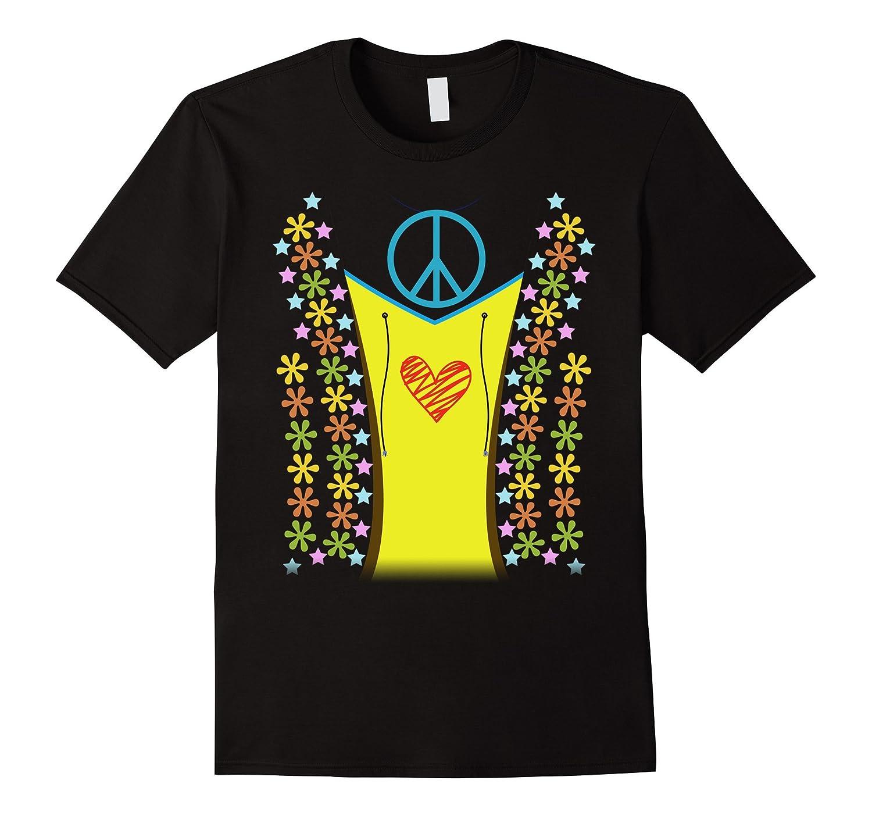 1960s Hippie Costume Shirt Halloween 1970s-FL