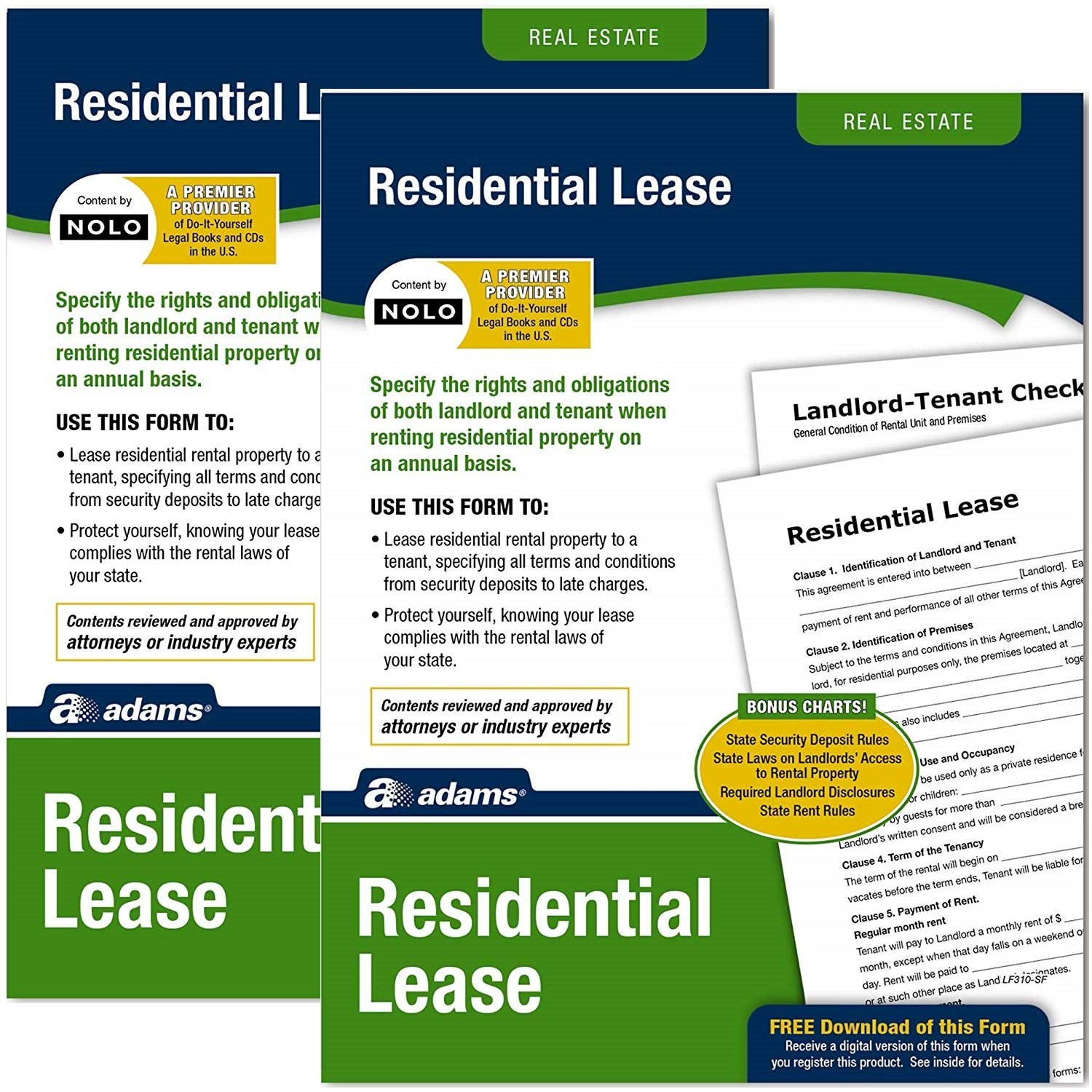 Amazon Adams Residential Lease Forms And Instructions LF310