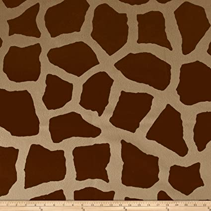 Amazon Com Fabric Safari Madness Upholstery Giraffe Toffee