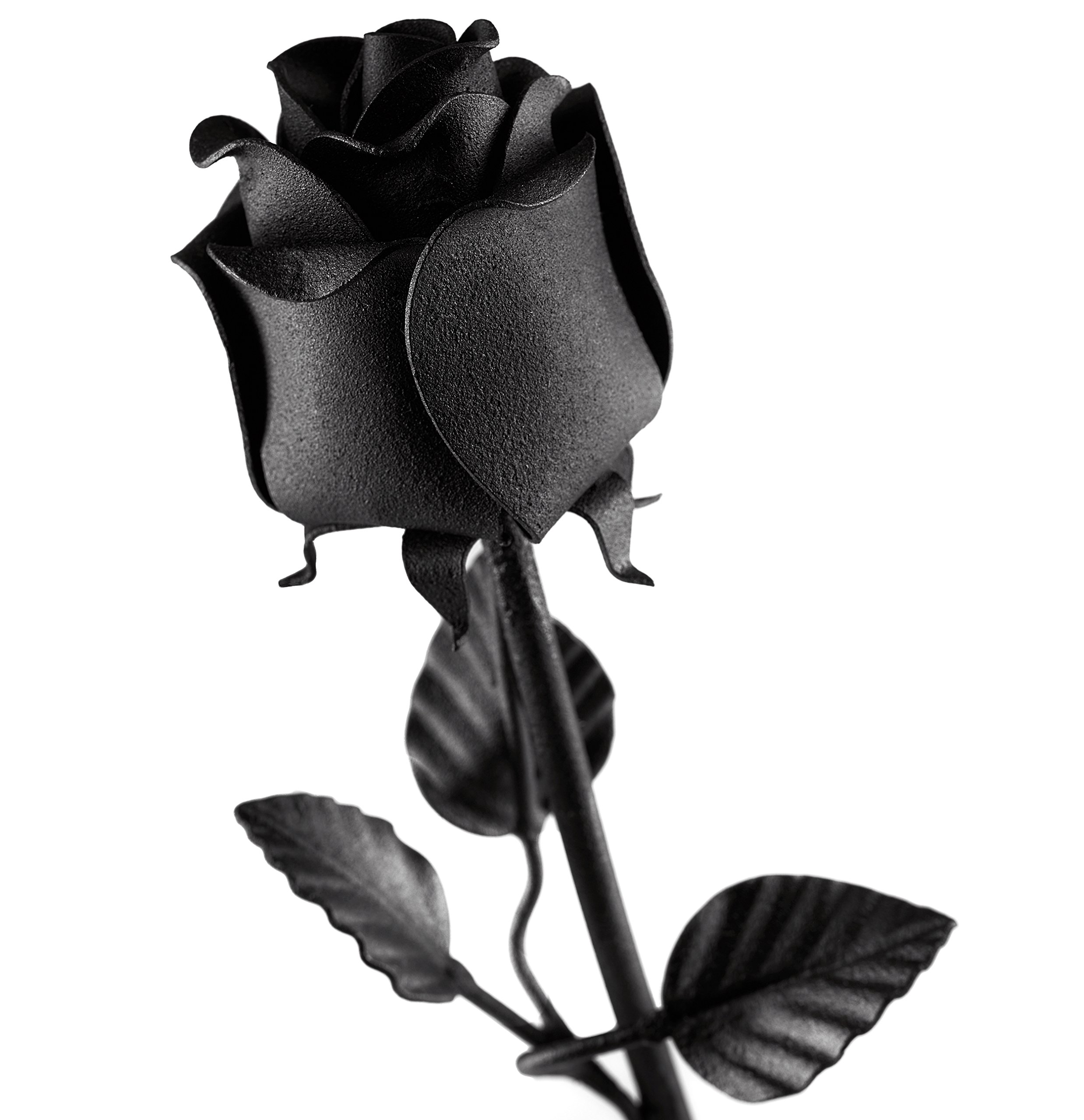 Hand-Forged-Iron-Rose-100-Wrought-Iron-Flower-In-Black-Unique-Anniversary-Gift