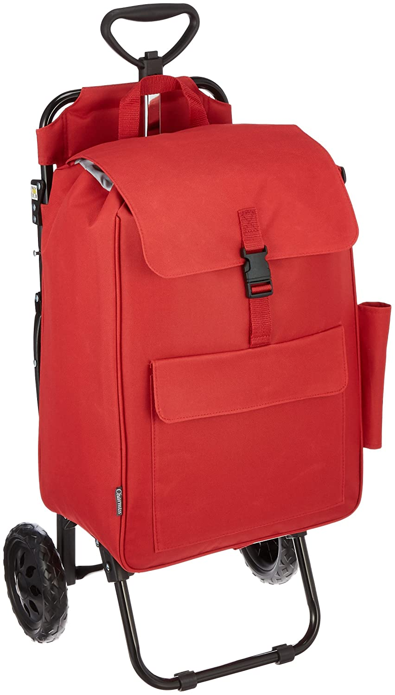 [シャルミス] ショッピングカートバッグ 椅子付 保冷機能付き 15-5012 B01KV4NNVW レッド レッド
