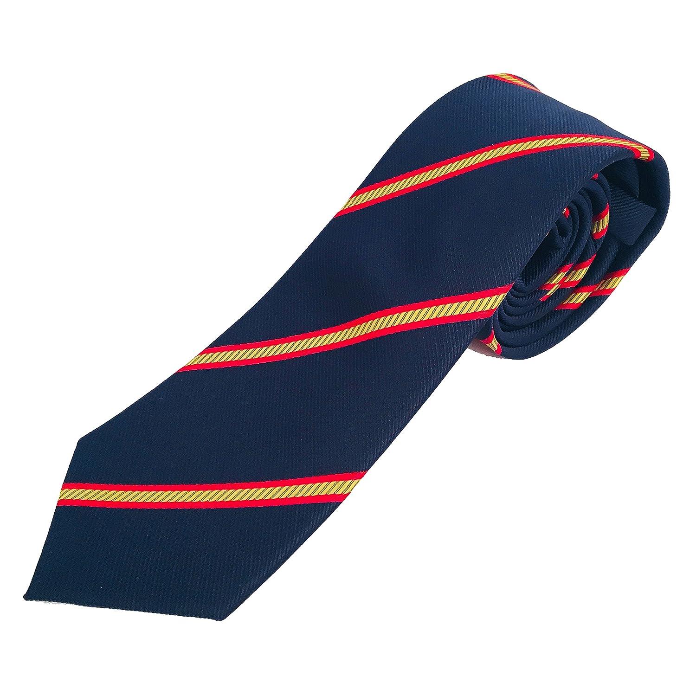 Corbata azul con bandera españa 8d47a71a574