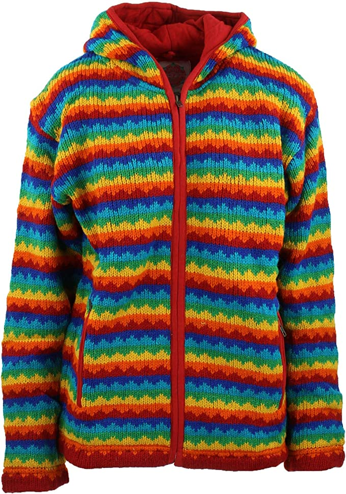 Vintage Sweaters, Retro Sweaters & Cardigan Wool Knit Hoodie Cardigan Jacket Lined £79.90 AT vintagedancer.com