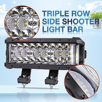 Side Shooter LED Light Bar AKD Part 7.5Inch LED Pods Spot Flood Combo Beam & Amazon.com: Side Shooter LED Light Bar AKD Part 7.5Inch LED Pods ... azcodes.com