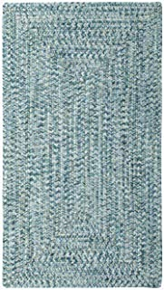 "product image for Capel Sea Pottery Blue 8' 6"" x 8' 6"" Concentric Rectangle Braided Rug"