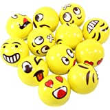 Assorrted Big Happy Face Fun Emoji Hand Wrist Finger Exercise Stress Relief Therapy Squeeze Ball