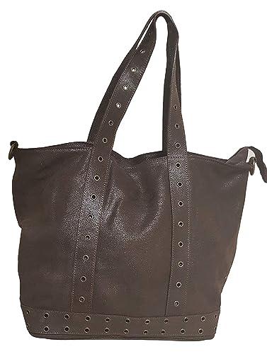 Exclusive Real Italian Leather Chocolate Handbag Bag Designer Womens Ladies Sale  Tote hobo bag (LARGE)  Amazon.co.uk  Shoes   Bags 9c49f1808a880