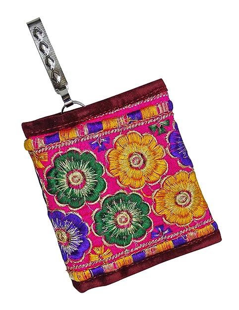 PEEGLI Bolso Bordado Tradicional De La Moneda Elegante De Las Mujeres De La Cartera De Las Mujeres: Amazon.es: Zapatos y complementos