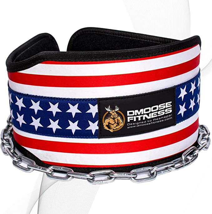 Nylon Dipping Belt//Weight Lifting//Gym Dip Belt With Metal Chain Workout Training