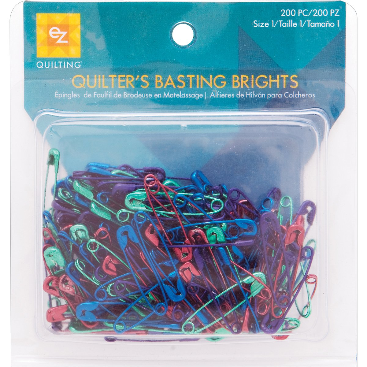 Simplicity Creative Group, Inc EZ Quilting 882670153 Basting Brights, 200-Piece