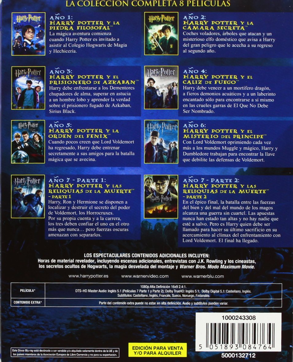 Amazon.com: Harry Potter colección completa: Movies & TV