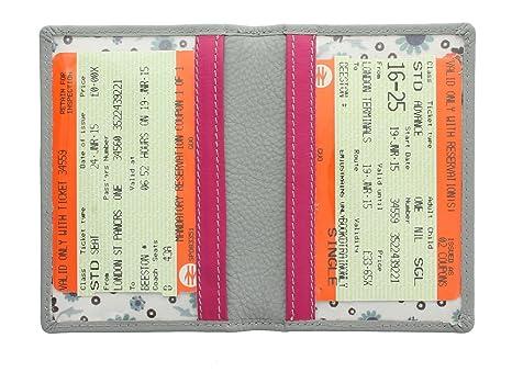 Mala Leather Colección Cara Portatarjeta de Viaje 620TC_73 Gris: Amazon.es: Equipaje