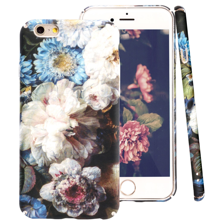 be6d392127f Funda iPhone 6S ZXK CO Fundas Protectiva Carcasa de Plástico Duro Cover Case  con Patrón de ...