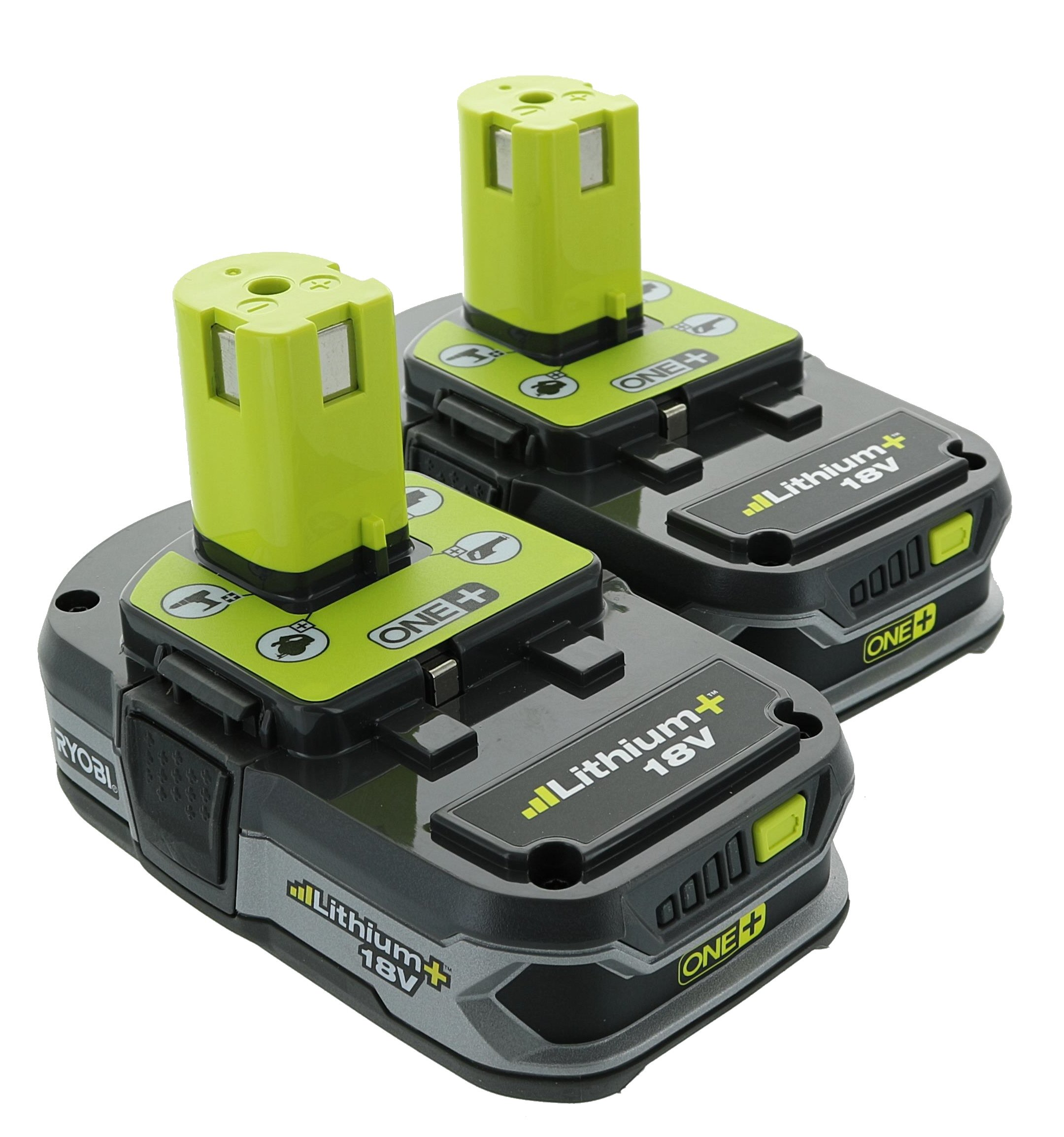 ryobi p109 18 volt lithium ion compact batteries two pack of p107 ebay. Black Bedroom Furniture Sets. Home Design Ideas