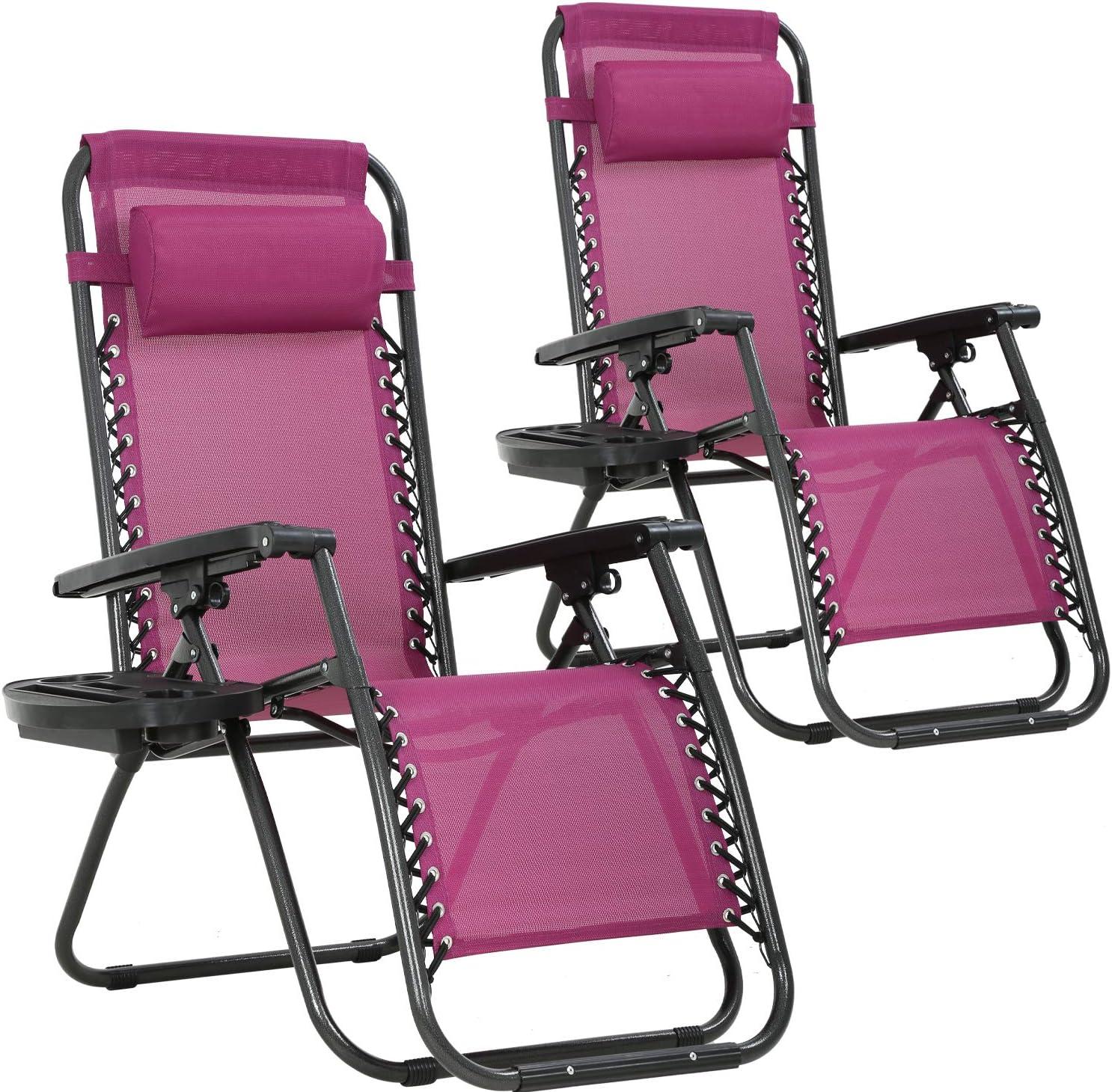 Zero Gravity Chair Patio Chairs Set of 2 Lawn Chair Outdoor Chair Anti Recliner Chair Deck Chairs Folding Lounge Chair Camping Chairs Beach Chairs Pool Chair