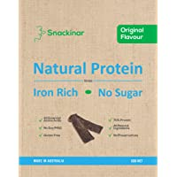 Snackinar Beef Strips – Original Flavour – Iron rich protein with essential nutrients – No sugar, ultra low carb…