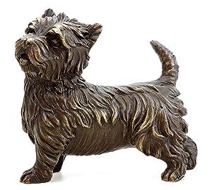 Kunst & Ambiente West Highland Terrier - Westie - Bronze Animal Sculpture - Bronze Dog - Milo - Bronze Sculpture - Dog Sculpture - Dog Statue - Bronze Dogs