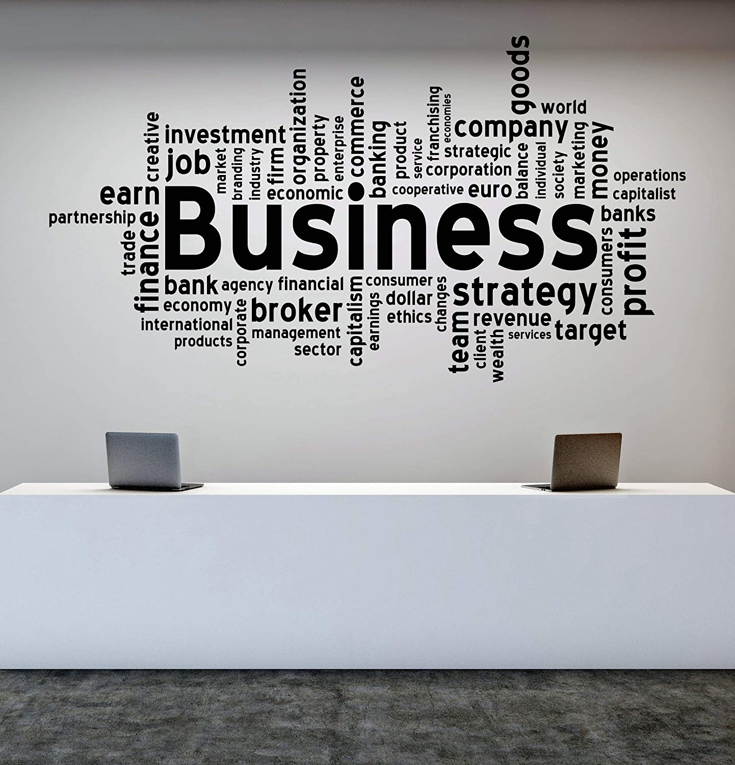 Amazon com: Vinyl Decal Wall Sticker Quote Business Words