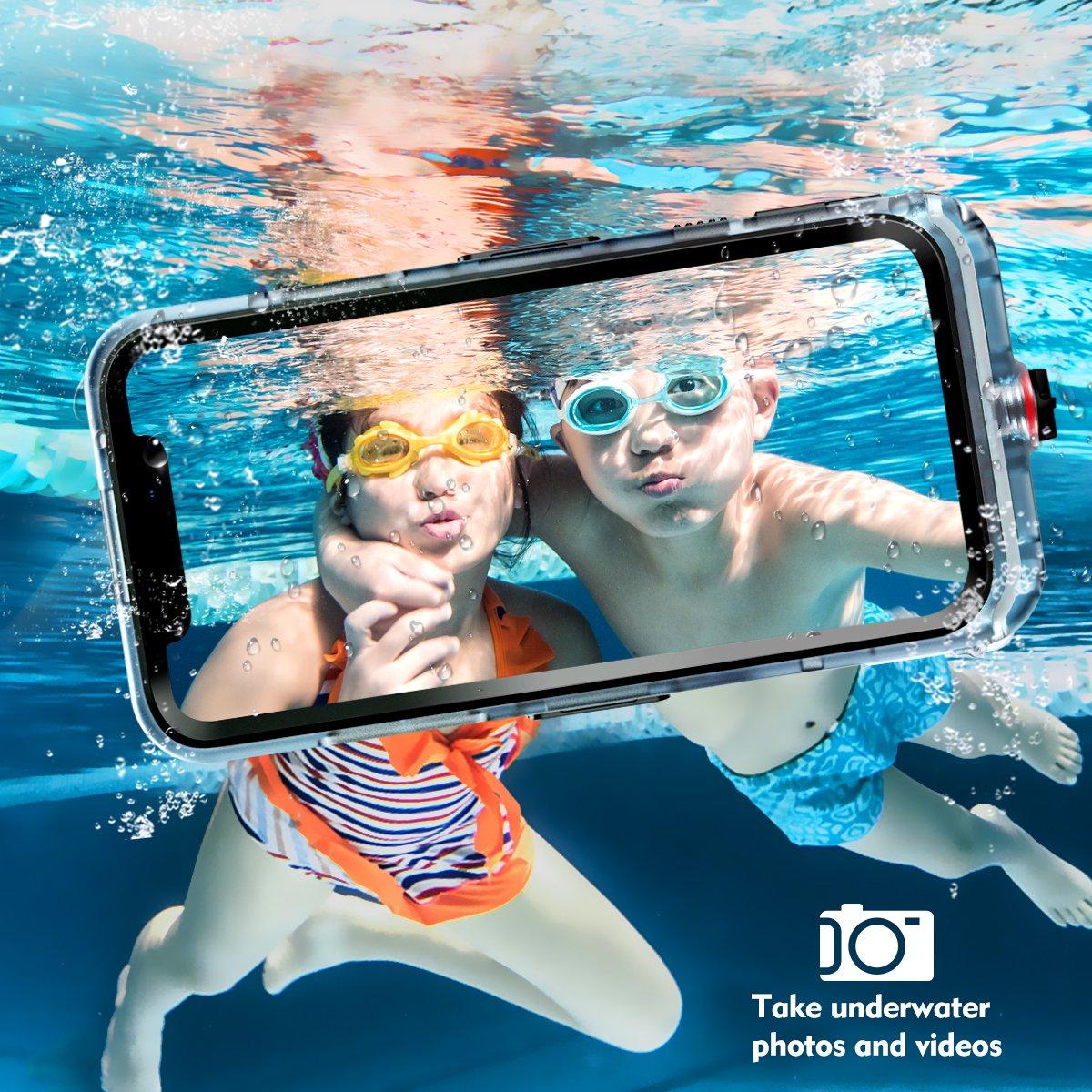 Cornmi iPhone X Waterproof Case, Full Sealed IP68 Certified Waterproof Shockproof Snowproof Protection Underwater Case for iPhone X 5.2inch (Black) by Cornmi (Image #7)