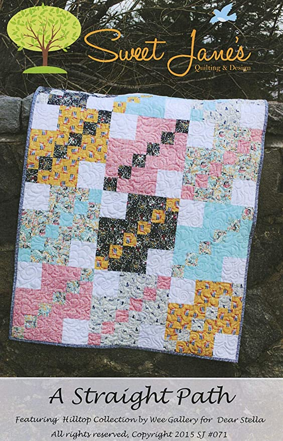 by Sweet Janes Quilting /& Design A Straight Path Multiple Sizes