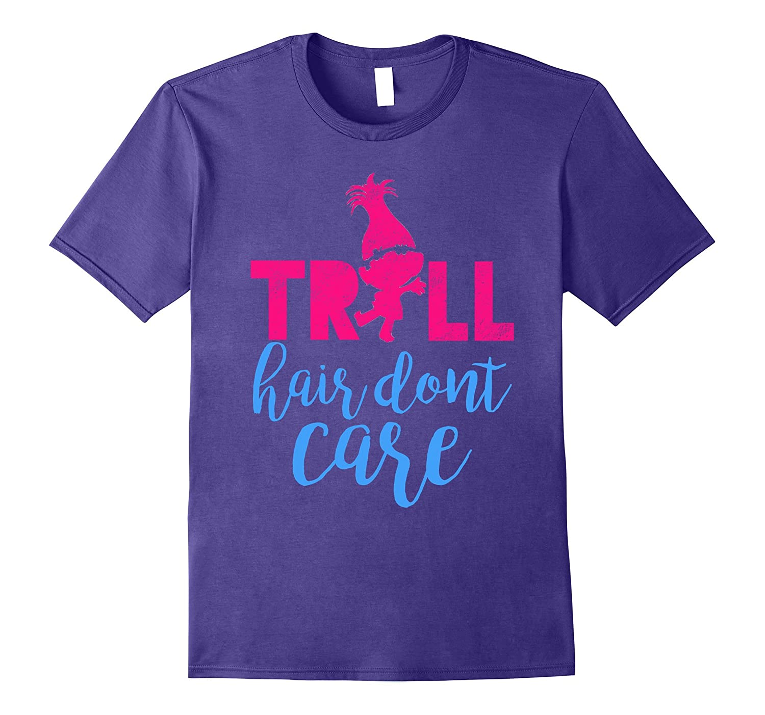 Troll Hair Don't Care Funny Distressed Shirt-CL