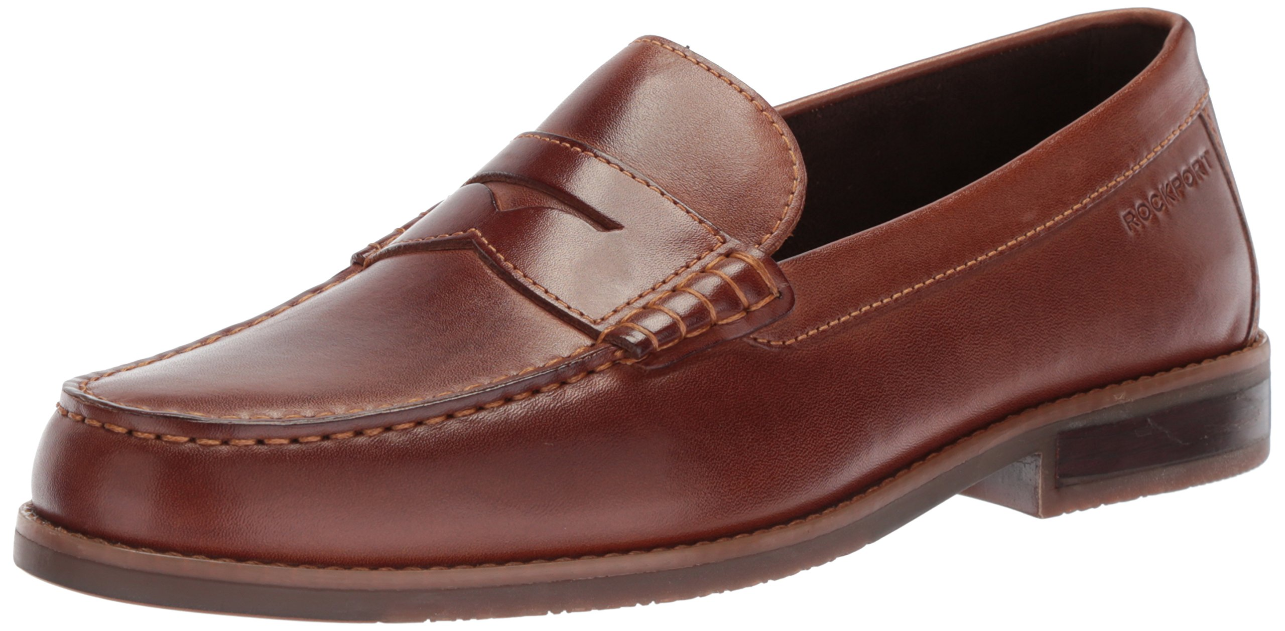 Rockport Men's Curtys Penny Penny Loafer, Brown, 9 M US