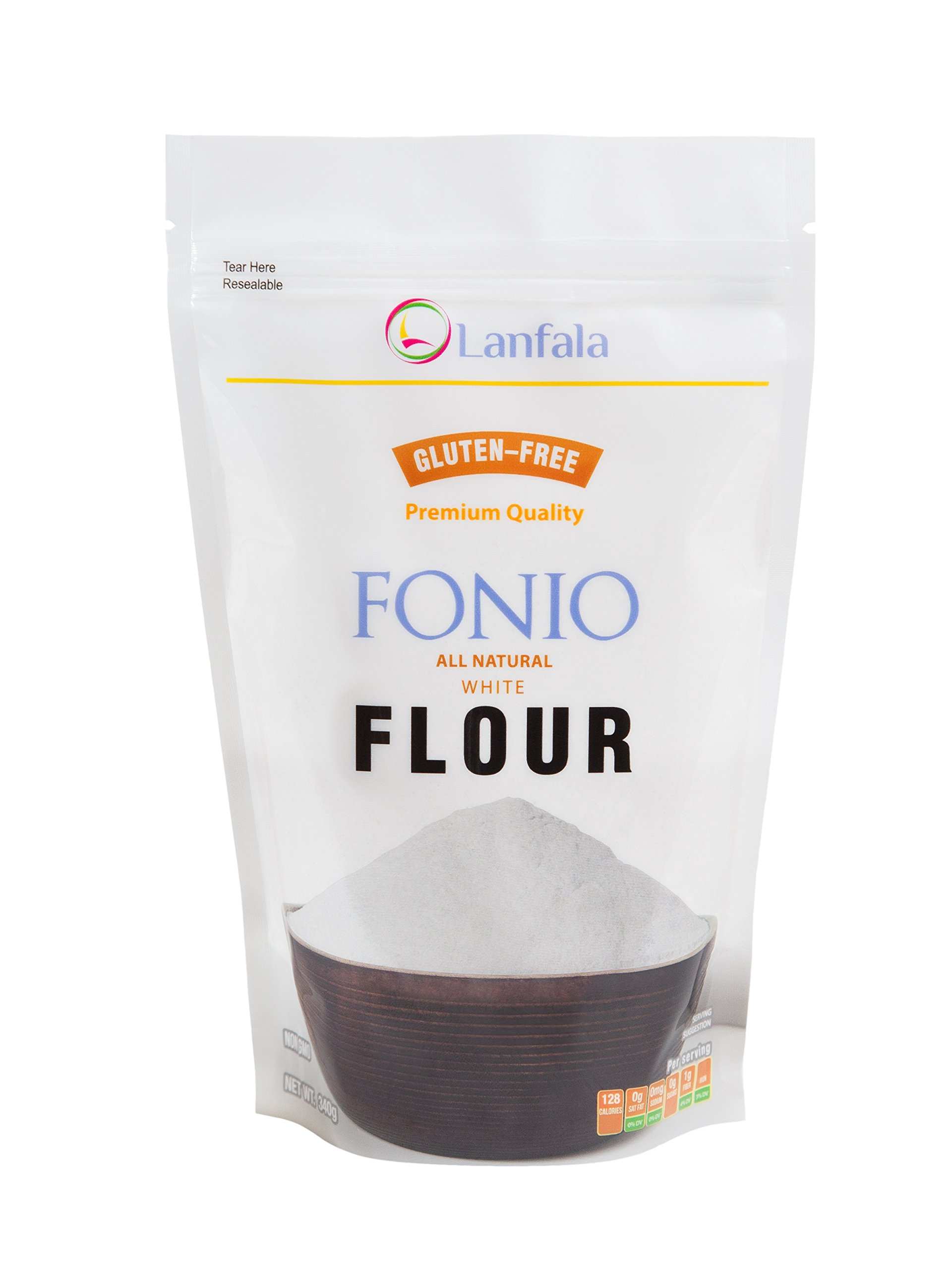 Lanfala Premium Quality 100% All Natural Gluten Free White Fonio Flour by Lanfala